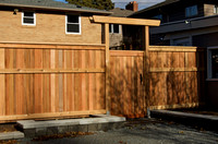 6' high privacy fence, Fauntleroy