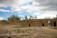 Exterior of the Great Kiva, reconstructed by a learned archaeologist in the thirties