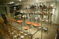 Too much to exhibit singly, much is kept in a glass store-room