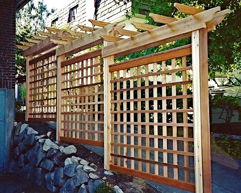 Zenfolio Bill Langer Garden Woodwork Stepped lattice arbor