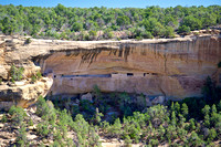There are many cliff houses in Mesa Verde NP